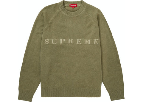 Supreme Stone Washed Olive Sweater Size Medium