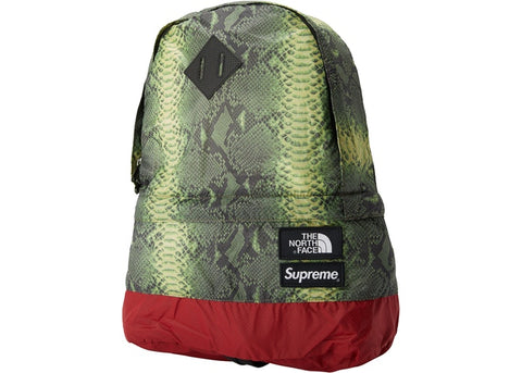 Supreme TNF Green Snakeskin Backpack