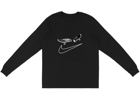 Cactus Jack X Nike SB Smile Black L/S Shirt Size Medium