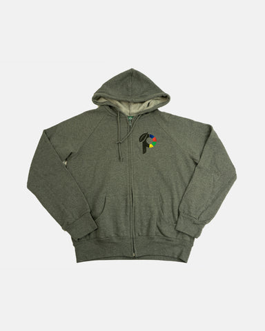 Produce Womens Classic Logo Zip-Up Hoodie