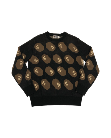 Bape Ape Head Black Sweater Size X-Large