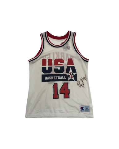 Vintage 90's Charles Barkley Signed Champion Dream Team Jersey