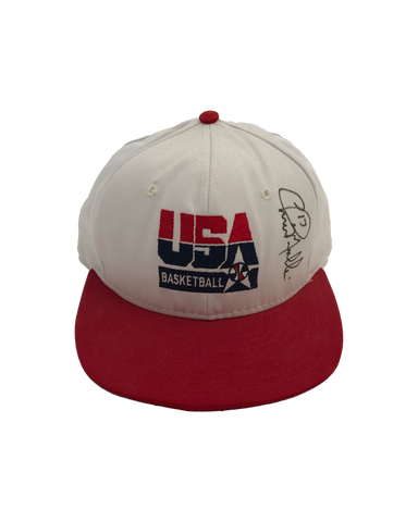 Vintage Chris Mullen Signed Dream Team Hat
