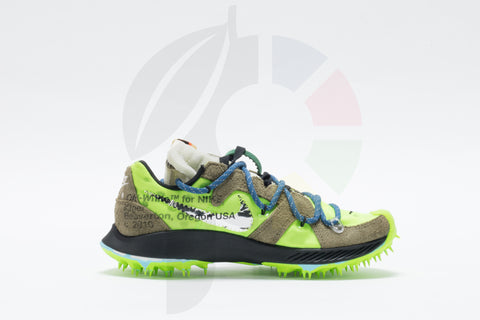 Nike Air Zoom Terra Kiger 5 x Off-White Athlete in Progress-Electric Green Size 6.5