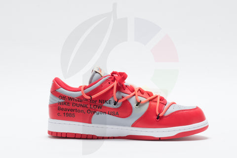 Nike Dunk Low x Off-White University Red Size 9.5