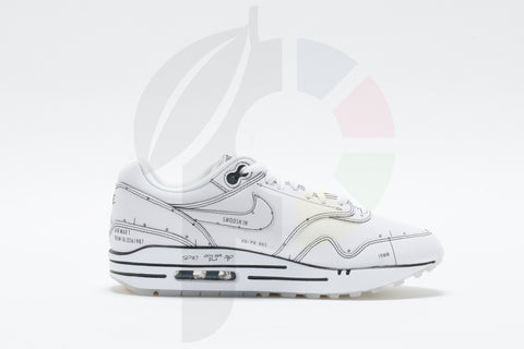 Nike Air Max 1 Sketch To Shelf White Size 5.5