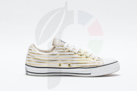 Converse Chuck Taylor All Star Low x Fragment Design Gold Stripe Size 8