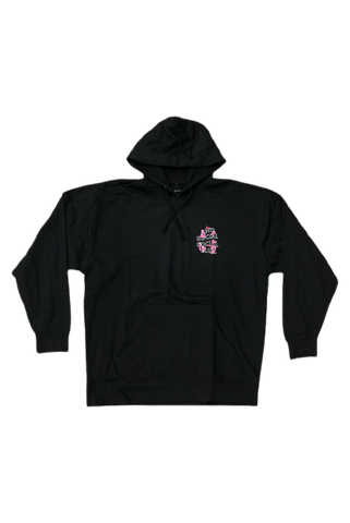 Anti Social Social Club Black Bloom Logo Hoodie Size X-Large