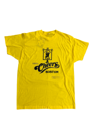 Vintage 80's Yellow Cheers T-Shirt Size X-Large
