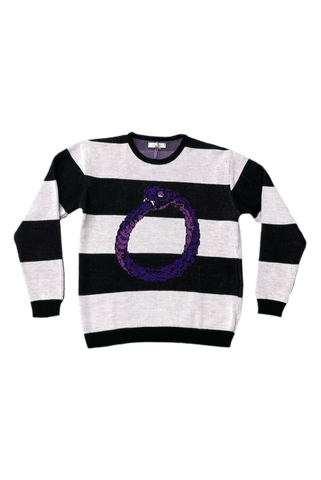 Omniscient Purple Snake Knit Sweater