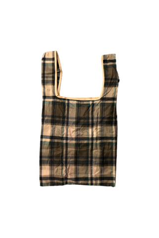 Bape Green Plaid Tote Bag