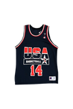 Vintage 90's USA Alonzo Mourning Jersey Size Large