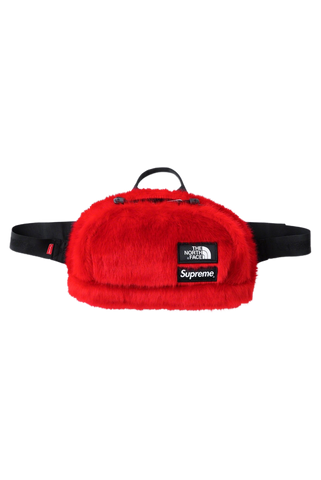 Supreme The North Face Red Fur Waist Bag