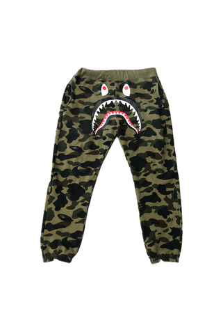 Bape Green Camo Shark Shorts Size X-Large