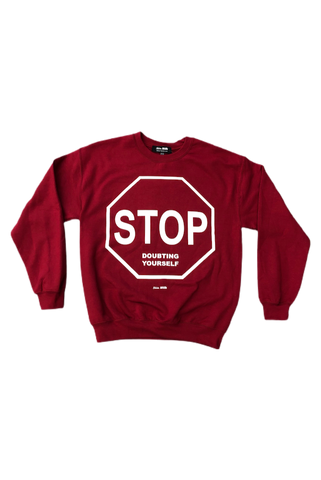 Skim Milk Stop Doubting Yourself Crewneck
