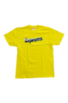 Supreme Yellow Chrome Logo T-Shirt Size Large