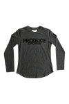 Produce Sports Classic Font Long Sleeve T-Shirt