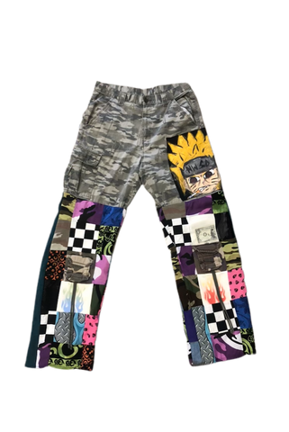 Omniscient Patch Work Pants