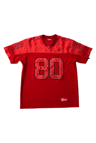 Supreme Red Monogram Football Jersey Size Large