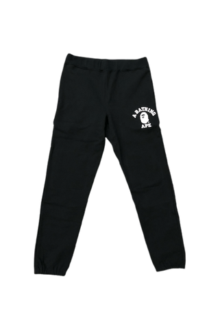 Bape Black College Logo Sweats Size Large