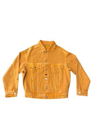 Pluto Heights Orange Cream Denim Jacket