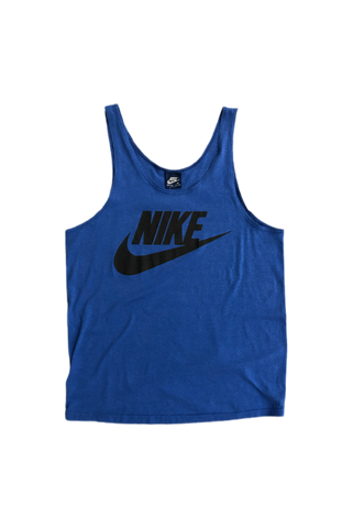 Vintage 80's Nike Blue Tank Top Size Medium