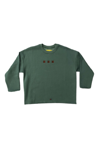Pluto Heights Insignia Hem Cut Crewneck