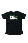 Kith Super Green Box Logo Black T-Shirt Size Large