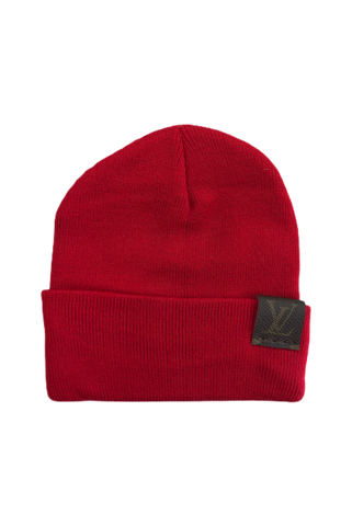 QTstylez Louis Vuttion Patch Beanie