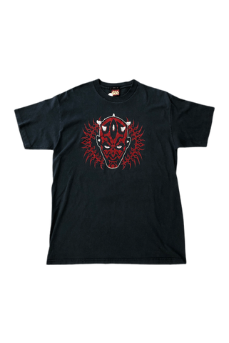 Vintage 2000's Star Wars Felt Darth Maul T-Shirt Size X-Large