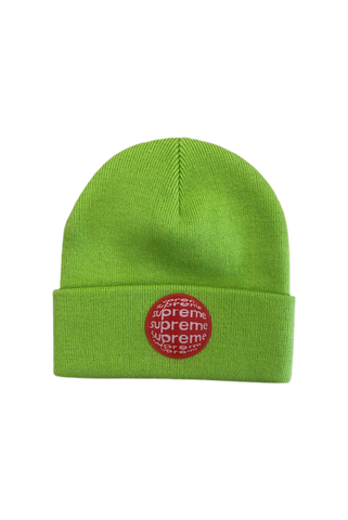 Supreme Lime Lenticular Patch Beanie
