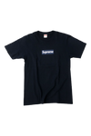 Supreme Navy Yankees Box Logo T-Shirt Size Medium