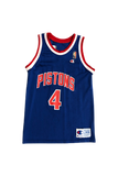 Vintage 90's Pistons Joe Dumars Jersey Size Youth Large