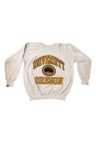 Vintage 80's Oregon Ducks Crewneck Size Large