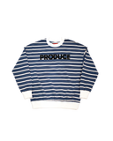 Produce Striped Classic Font Crewneck Sweater