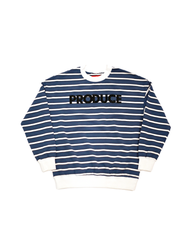 Striped Classic Font Crewneck Sweater