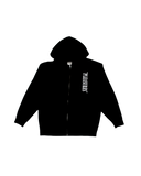 Pleasures Black Zip Up Hoodie Sz. L