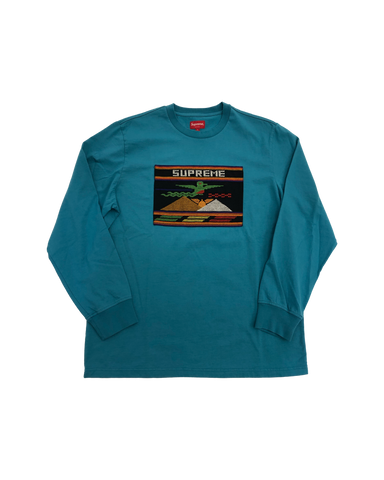Supreme Needlepoint Patch Teal LS Size Large