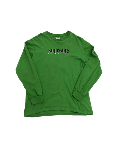 Supreme The Real Shit Green L/S Size Medium