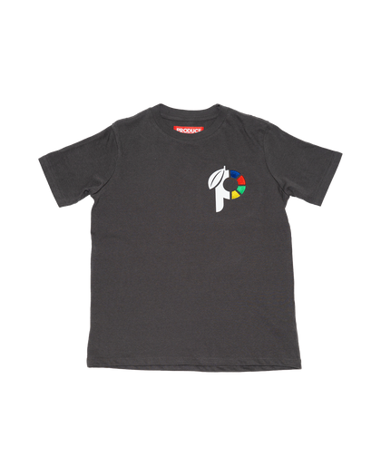 grey t-shirt tee youth p logo