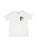 white t-shirt tee with p logo