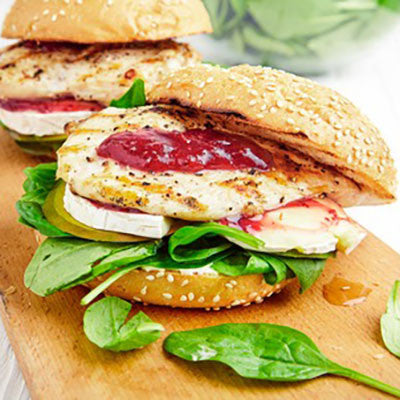 Fig Balsamic Glazed Chicken and Brie Sandwich