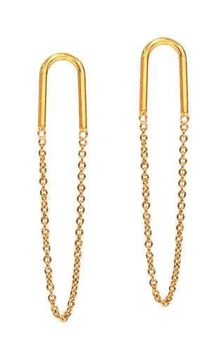 Suspender with Chain Earrings