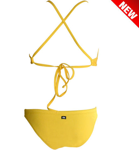 DUAL LAYER KNOTTY ACTIVE BIKINI - Yellow (Items sold separately)