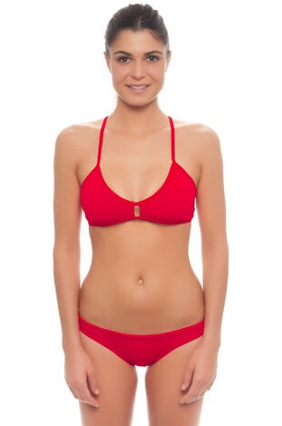 DUAL LAYER KNOTTY BIKINI - Red (Items sold separately)