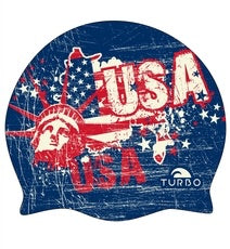 Silicone cap - USA Vintage Map