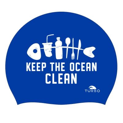 Silicone cap - Save the ocean