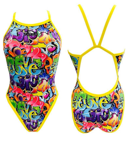 Graffiti Revolution Swim Suit Women