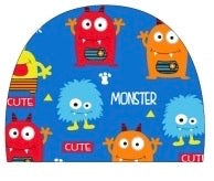 Kids Cute monsters Lycra swimming cap