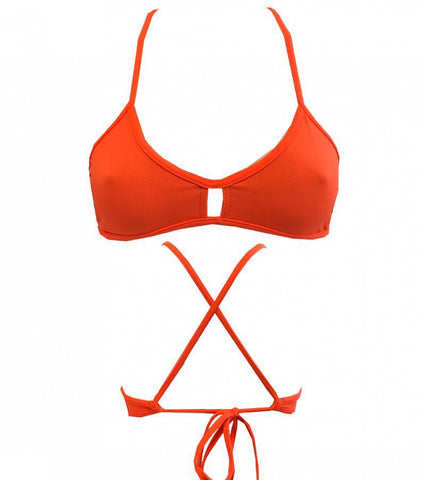 DUAL LAYER KNOTTY BIKINI - Orange (Items sold separately)
